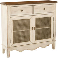 Inspired by Bassett Lambert Storage Console - Antique Rustic Beige