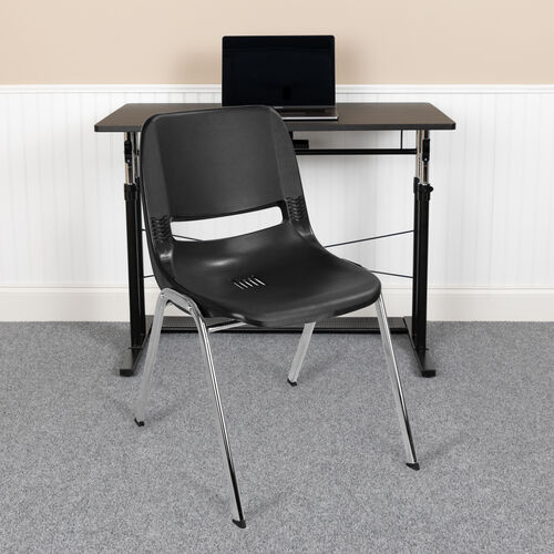 HERCULES Series 661 lb. Capacity Ergonomic Shell Stack Chair with 16