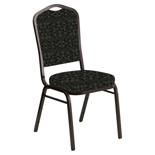 Our Crown Back Banquet Chair in Empire Pewter Fabric - Gold Vein Frame is on sale now.