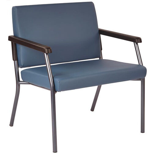 Our Work Smart Bariatric Big & Tall Guest Chair with 400 lb. Weight Capacity - Dillion Blue Antimicrobial Vinyl is on sale now.