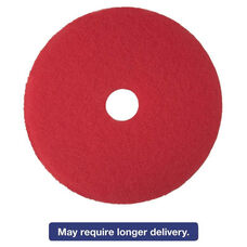 3M Red Buffer Floor Pads 5100 - Low-Speed - 17