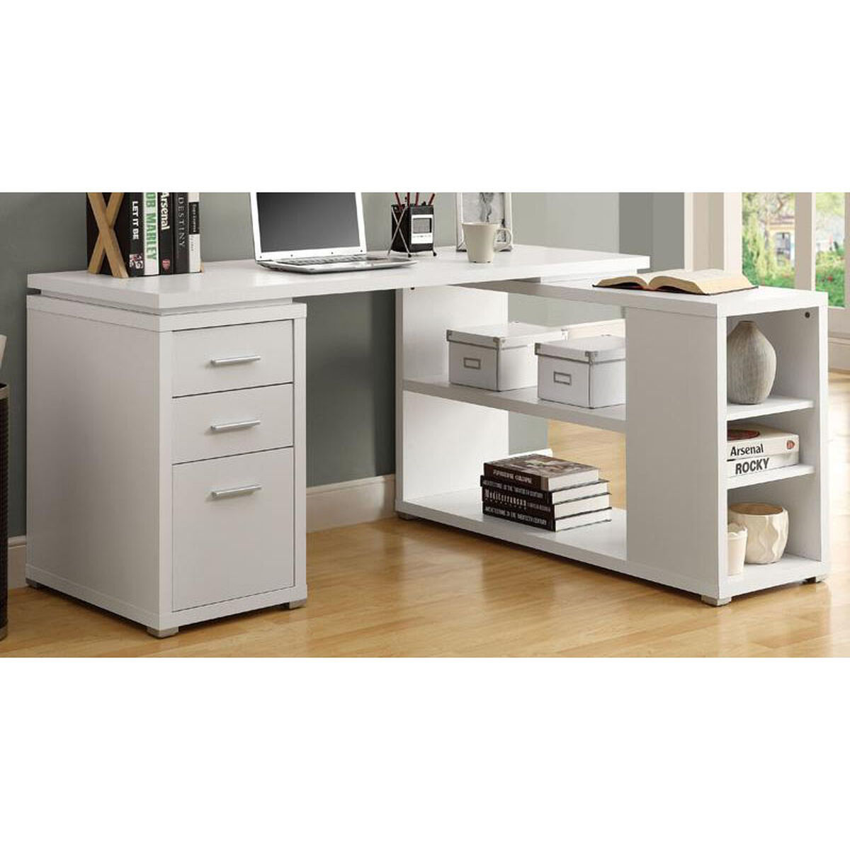White Home Office Desk I-7023 | Bizchair.com