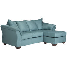 Signature Design by Ashley Darcy Sofa Chaise in Sky Microfiber