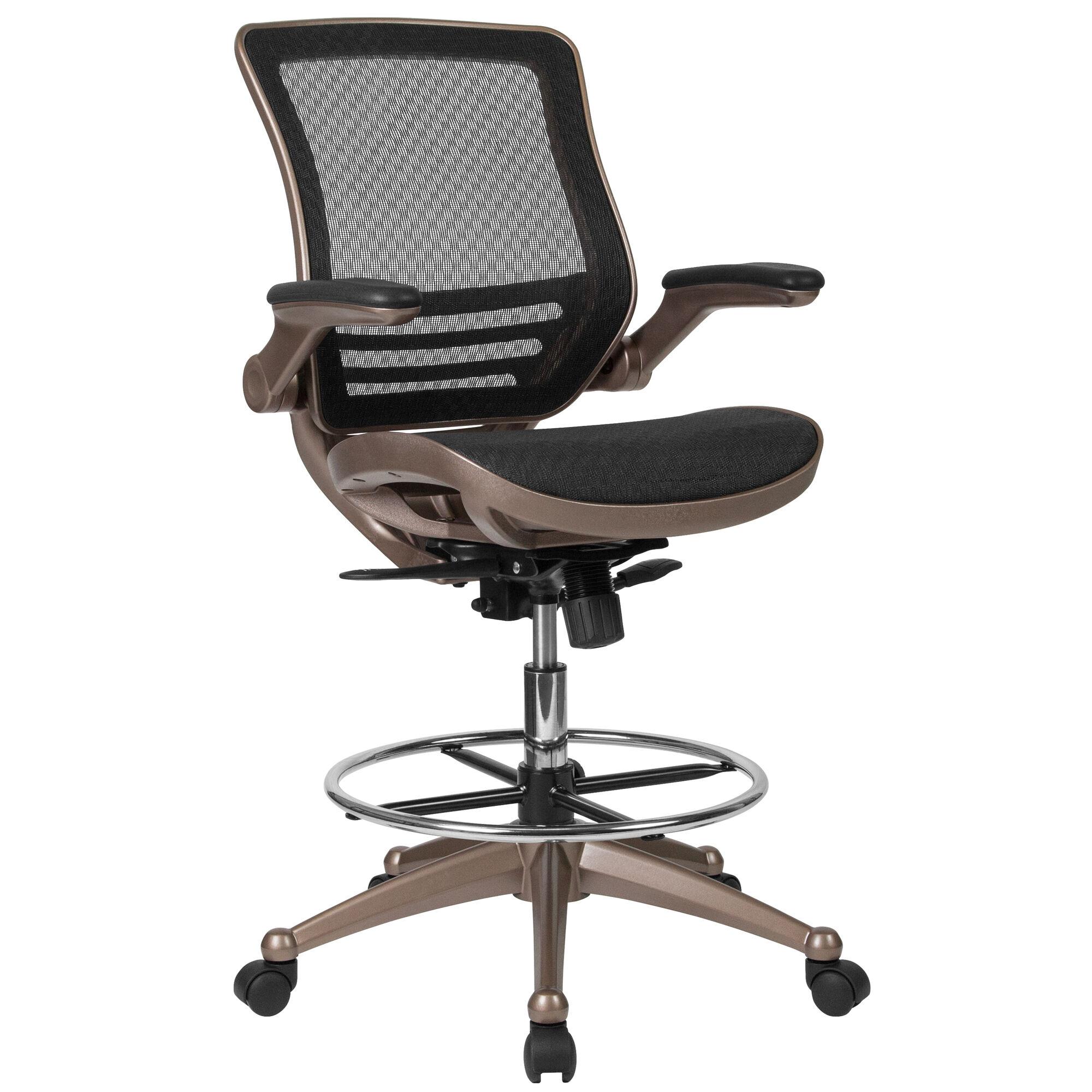 Black Mesh Drafting Chair Bl Lb 8801x D Gg Bizchair Com