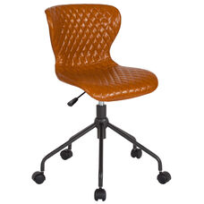 Somerset Home and Office Upholstered Task Chair in Saddle Vinyl