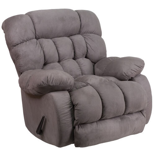 Our Contemporary Softsuede Graphite Microfiber Rocker Recliner is on sale now.