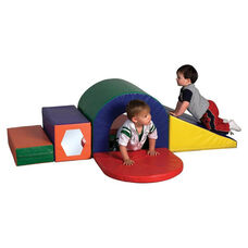 SoftZone® 6 Piece Vinyl Covered Foam Slide and Crawl Set with Tunnel