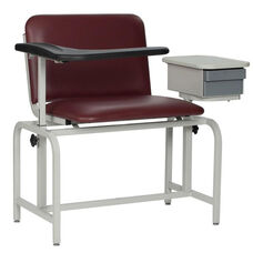 XL Blood Drawing Chair Padded Vinyl With Drawer