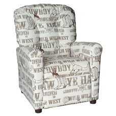 Kids Recliner with Button Tufted Back - Cowboy Kelp