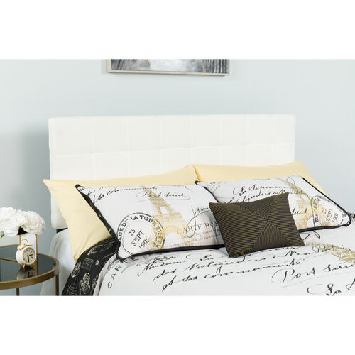 Our Bedford Tufted Upholstered Queen Size Headboard in White Fabric is on sale now.