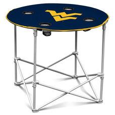 West Virginia University Team Logo Round Folding Table
