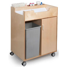 Budget Changing Table Cabinet with End Access in Birch Plywood