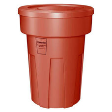 50 Gallon Cobra Food Grade/General Use Trash Can - Red