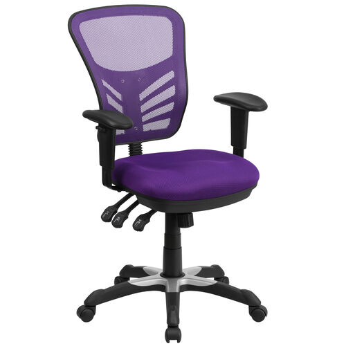 Our Mid-Back Purple Mesh Multifunction Executive Swivel Ergonomic Office Chair with Adjustable Arms is on sale now.