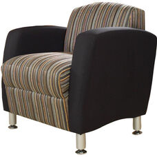 Quick Ship Accompany Lounge Chair with Metal Legs