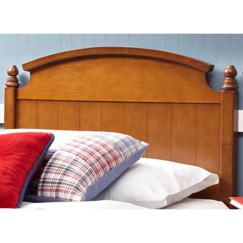 Our Danbury Traditional Wood Headboard with Carved Finials - Twin - Medium Walnut is on sale now.