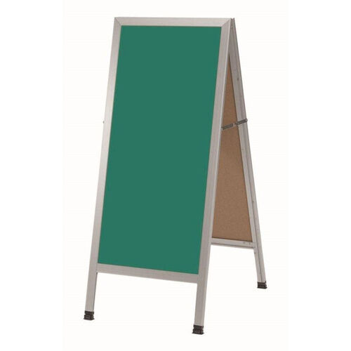 Our A-Frame Sidewalk Green Composition Chalkboard with Aluminum Frame - 42