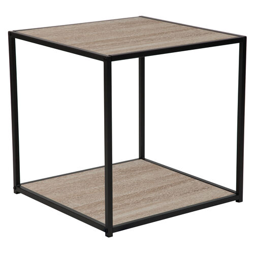 Our Midtown Collection Sonoma Oak Wood Grain Finish End Table with Black Metal Frame is on sale now.