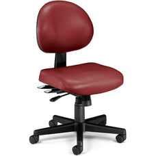 24 Hour Anti-Microbial and Anti-Bacterial Vinyl Task Chair - Wine
