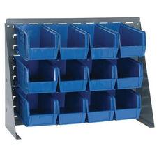 27''W Bench Rack with 10.875'' Bins - Blue