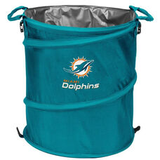 Miami Dolphins Team Logo Collapsible 3-in-1 Cooler Hamper Wastebasket