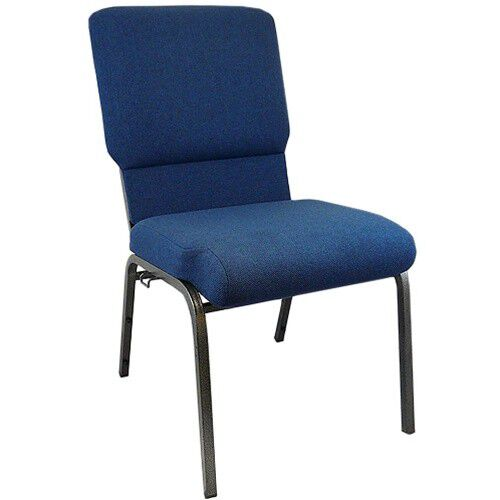 Our Advantage Navy Church Chairs 18.5 in. Wide is on sale now.