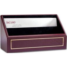 24Kt Gold Tooled Letter Holder - Burgundy