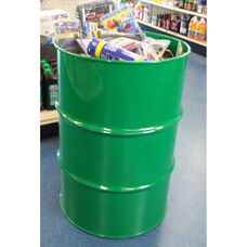 Green Dump Steel Drum Dump Bin Retail Display