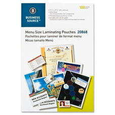 Business Source Laminating Pouch - Menu - 11 1/2