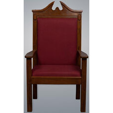 Stained Red Oak Center Pulpit Chair