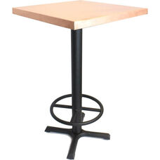 Rectangular Copper Table with Bar Height Black Steel Base - 24
