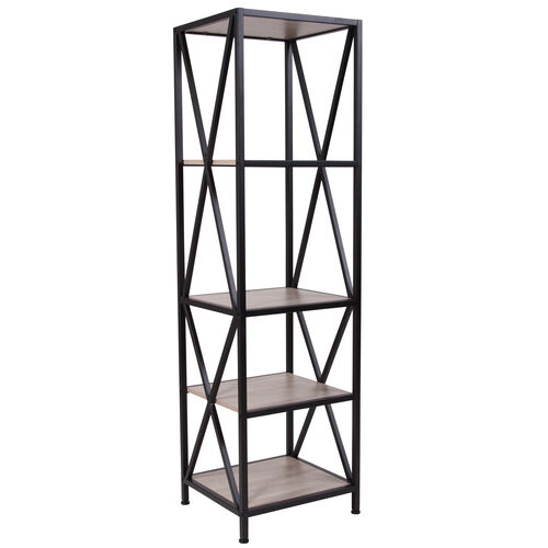 """Our Chelsea Collection 4 Shelf 61""""H Cross Brace Bookcase in Sonoma Oak Wood Grain Finish is on sale now."""