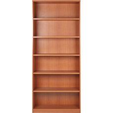 OSP Furniture 6-Shelf Laminate Bookcase with 1