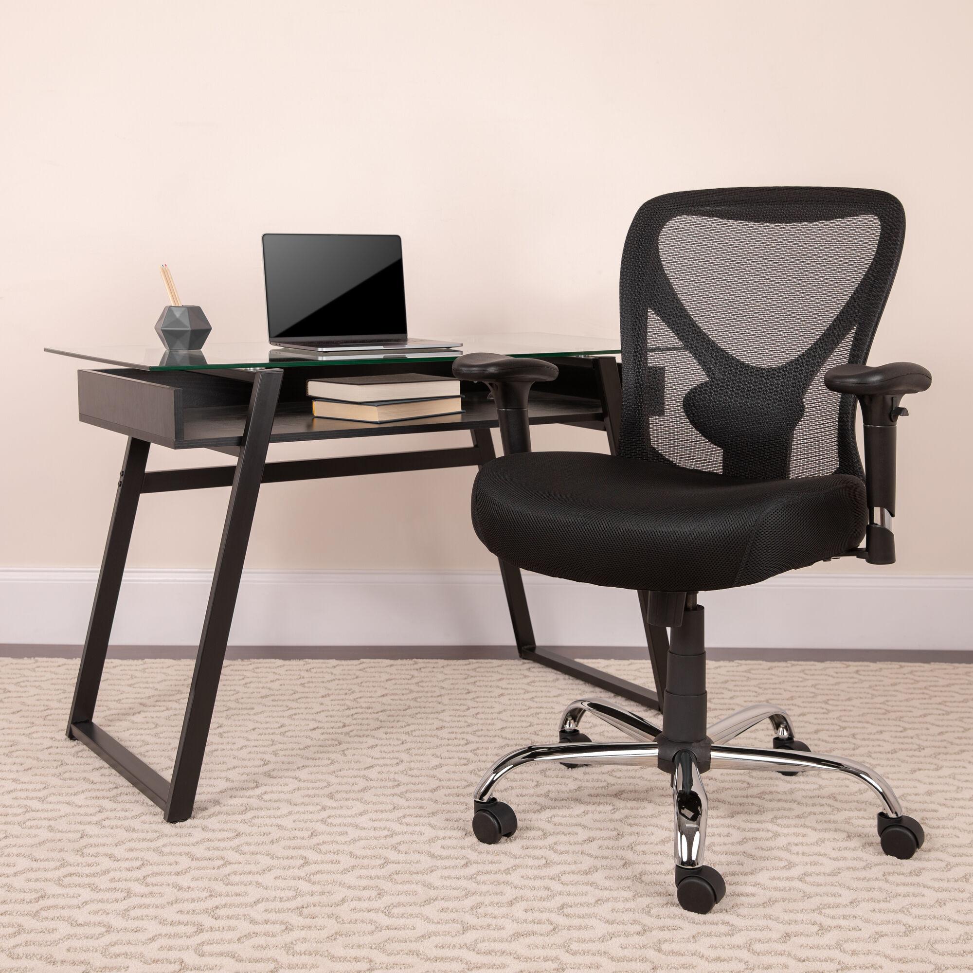 Black 400lb Mid Back Chair Go 2032 Gg Bizchair Com