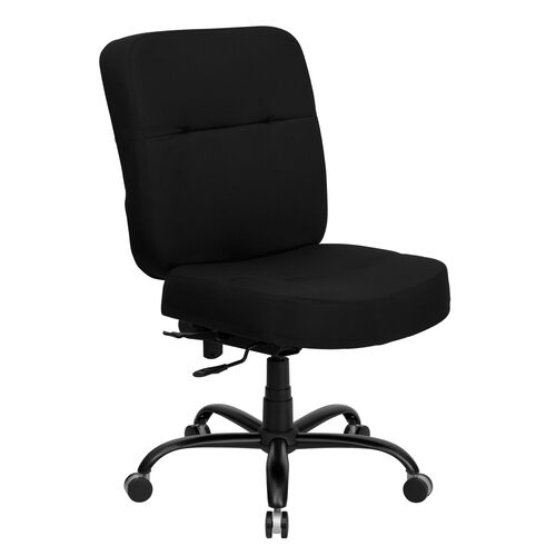 Our HERCULES Series Big & Tall 400 lb. Rated Black Fabric Executive Swivel Ergonomic Office Chair with Rectangular Back is on sale now.