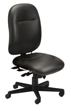 Comfort Series 24-Hour High Performance Chair - Black Leather