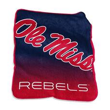 University of Mississippi Team Logo Raschel Throw