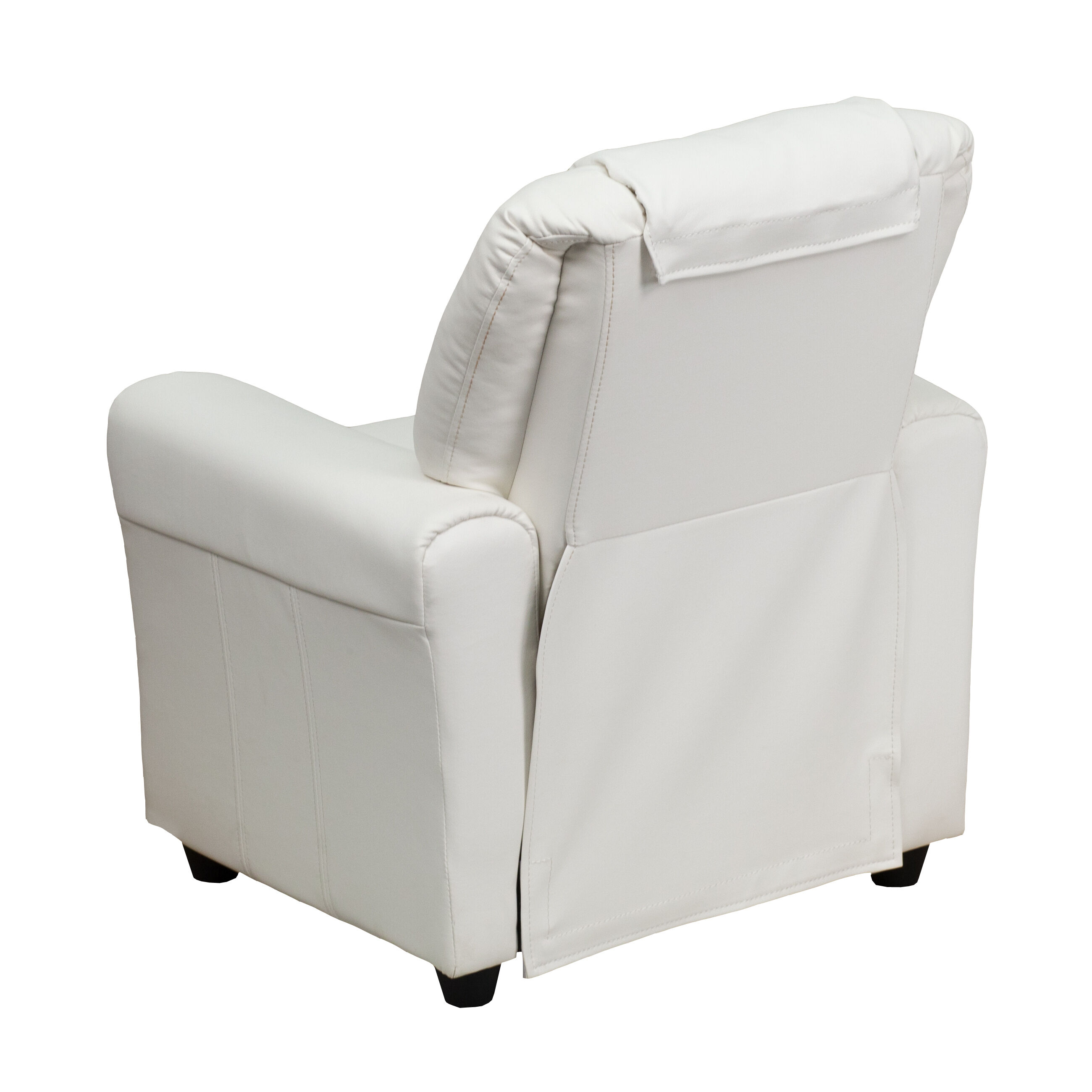 Our Contemporary White Vinyl Kids Recliner With Cup Holder And Headrest Is  On Sale Now.
