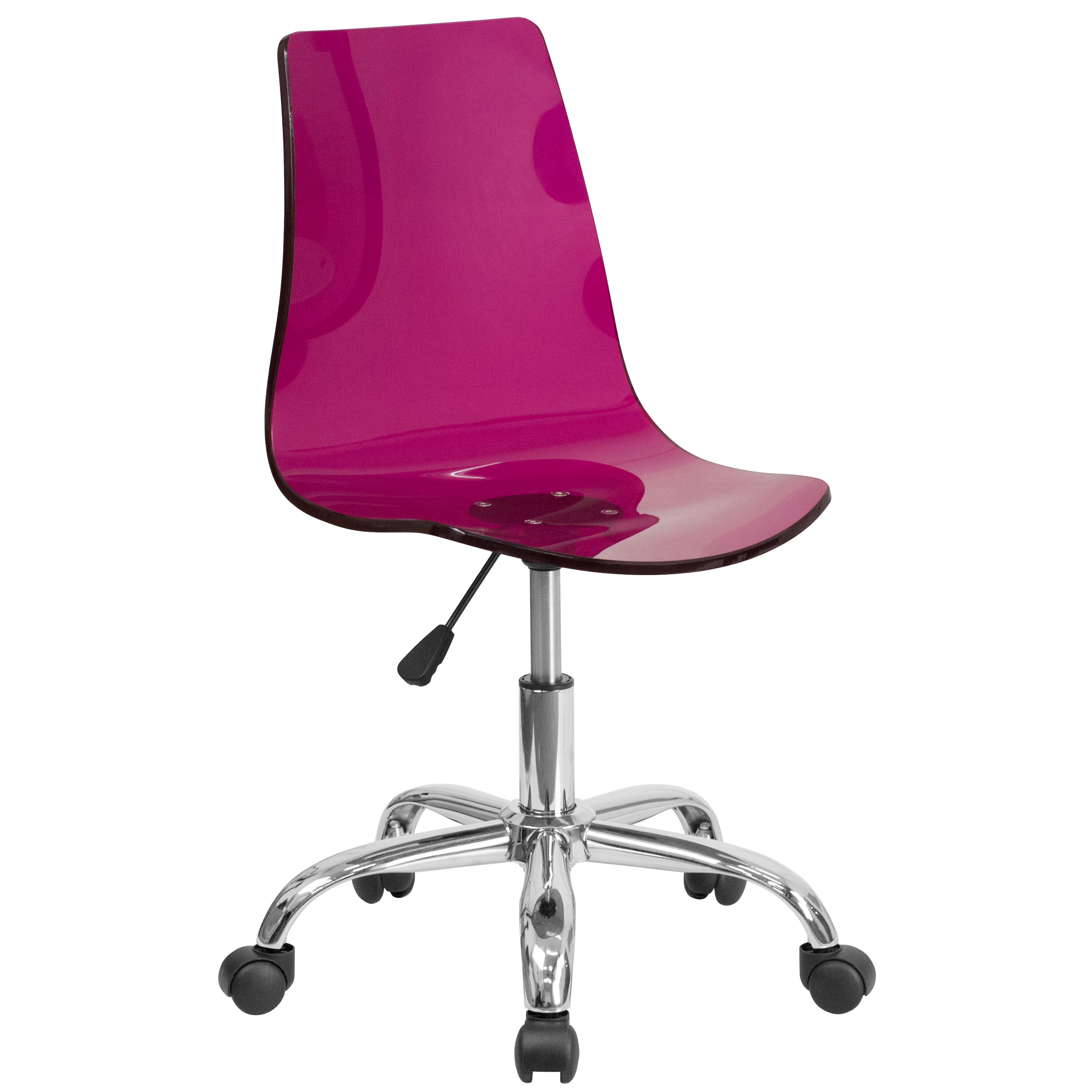 Superbe Our Contemporary Transparent Purple Acrylic Swivel Task Chair With Chrome  Base Is On Sale Now.