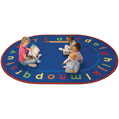 Our Alphabet Reading and Storytime Round Nylon Rug - 72