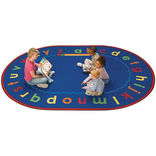 Alphabet Reading and Storytime Round Nylon Rug - 72