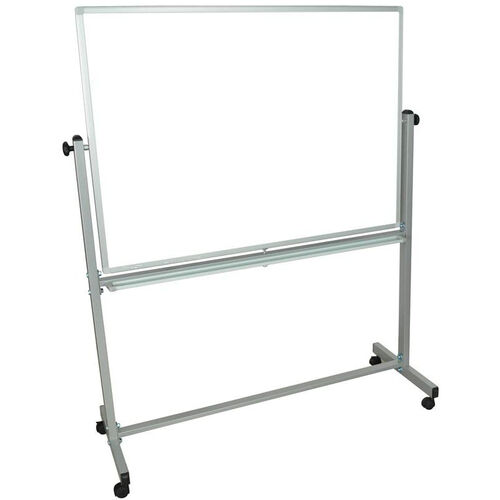 Our Doubled Sided Aluminum Frame Magnetic Mobile Whiteboard with Marker Tray - 51.5