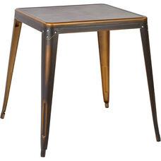 OSP Designs Bristow Antique Metal Table - Antique Copper