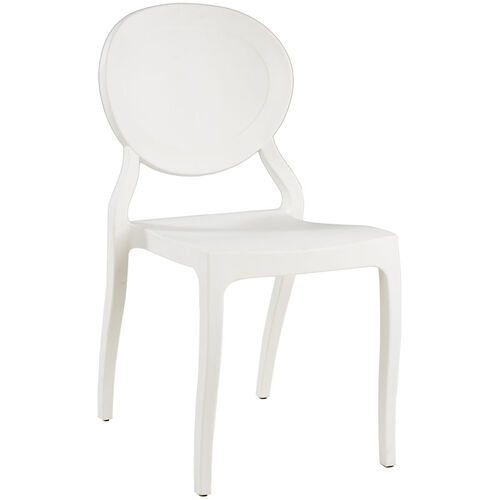 Emma Resin Polypropylene Stackable Event Chair - White
