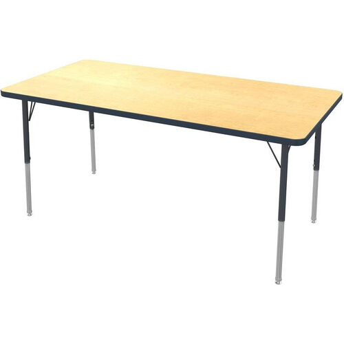 Our MG Series Kids Height Adjustable Rectangular Activity Table with Black Edge and Legs - 60