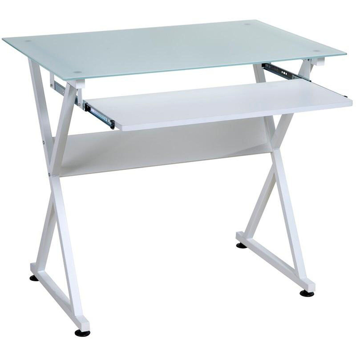 Our Onespace Ultramodern Glass Computer Desk White Is On Now
