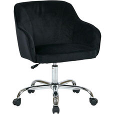 Ave Six Bristol Fabric Task Chair - Black Velvet