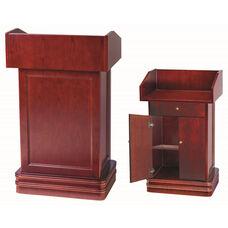 Hardwood Cherry Podium with Adjustable Shelf and Doors - 47.25