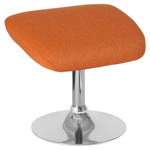 Our Egg Series Orange Fabric Ottoman is on sale now.