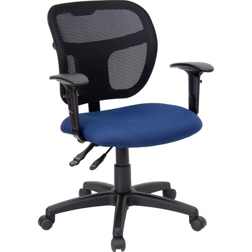 Our Mid-Back Navy Blue Mesh Swivel Task Office Chair with Back Height Adjustment and Adjustable Arms is on sale now.